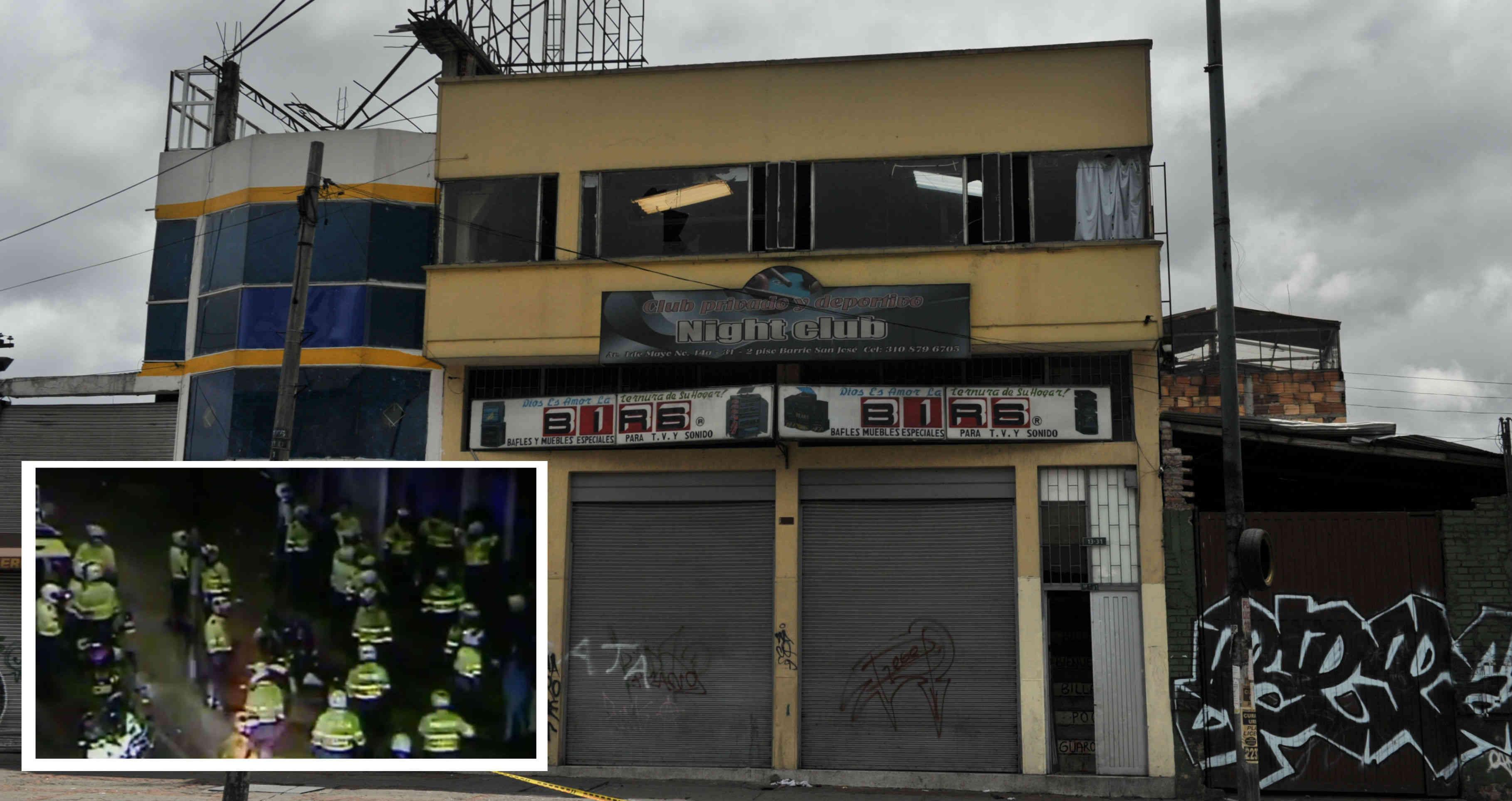 SEIS PERSONAS MUERTAS EN OPERATIVO POLICIAL DEL BAR NIGHT CLUB EN EL SUR DE BOGOTÁ
